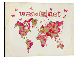 Tableau en aluminium  Wanderlust Rose - Mandy Reinmuth