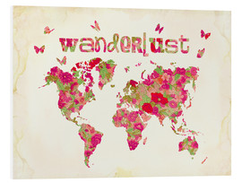 Tableau en PVC  Wanderlust Rose - Mandy Reinmuth