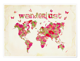 Poster  Wanderlust Rose - Mandy Reinmuth