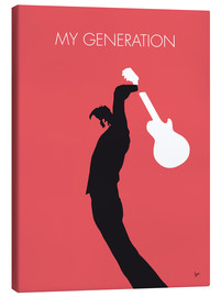 Toile  No002 MY THE WHO Minimal Music poster - chungkong
