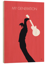 Tableau en bois  The Who, My Generation - chungkong