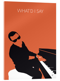 Verre acrylique  No003 MY Ray Charles Minimal Music poster - chungkong