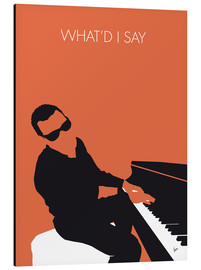 Tableau en aluminium  Ray Charles, What'd I say - chungkong