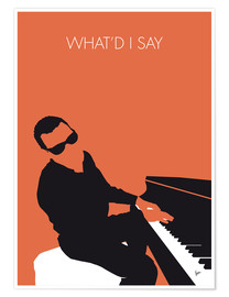 Poster  Ray Charles, What'd I say - chungkong