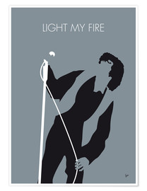 Poster  Jim Morrison, Light my fire - chungkong