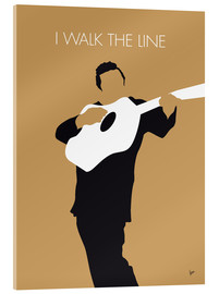 Tableau en verre acrylique  Johnny Cash, I walk the line - chungkong