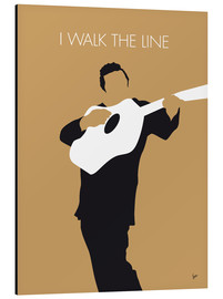 Tableau en aluminium  Johnny Cash, I walk the line - chungkong