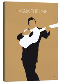 Tableau sur toile  Johnny Cash, I walk the line - chungkong