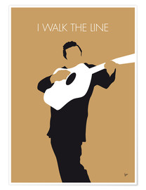 Poster Johnny Cash, I walk the line