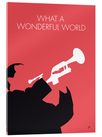 Tableau en verre acrylique  Louis Armstrong, What a wonderful world - chungkong