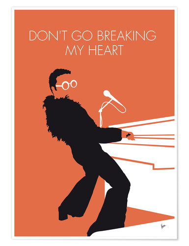 Poster Elton John, Don't go breaking my heart
