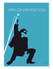 Poster  U2, With or without you - chungkong