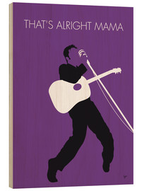 Tableau en bois  Elvis, That's alright Mama - chungkong