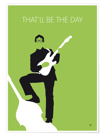Poster  No056 MY BUDDY HOLLY Minimal Music poster - chungkong