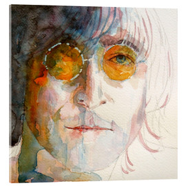Verre acrylique  John Winston Lennon - Paul Paul Lovering Arts