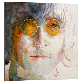 Tableau en aluminium  John Winston Lennon - Paul Lovering