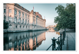 Poster Bode Museum Reflection in the River Spree