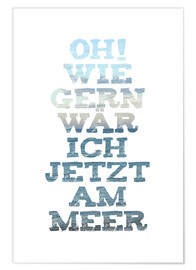 Poster Oh Meer (allemand)