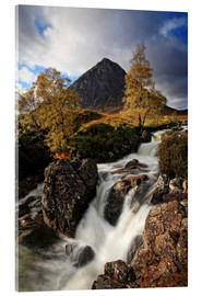 Tableau en verre acrylique  Scotland in Autumn - Buchaille Etive Mor - Martina Cross