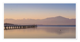Poster  Dawn at Lake Chiemsee - Martin Wasilewski