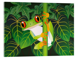 Verre acrylique  Hold on tight little frog! - Kidz Collection