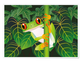 Poster  Hold on tight little frog! - Kidz Collection
