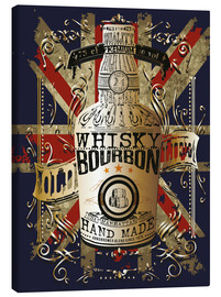 Tableau sur toile  bottle of whiskey