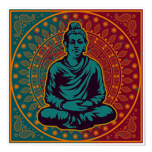 Poster Buddha on a Mandala