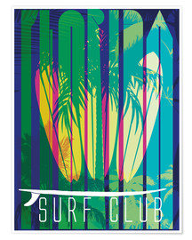 Poster  Surf Club Florida