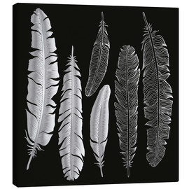 Toile  Feathers in silver