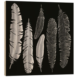 Bois  Feathers in silver