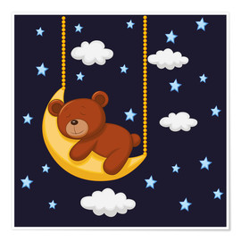 Poster  Bonne nuit Teddy - Kidz Collection