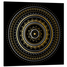 Alu-Dibond  Mandala on black