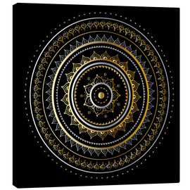 Toile  Mandala on black