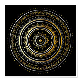 Poster  Mandala on black