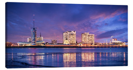 Tableau sur toile  Sunrise in Bremerhaven - Tanja Arnold Photography