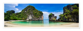 Poster  thailand hong Iceland beach Panorama - Vincent Xeridat