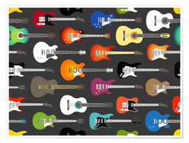 Poster  Collection de guitares - Kidz Collection
