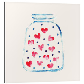Tableau en aluminium  Un pot d'amour - Kidz Collection