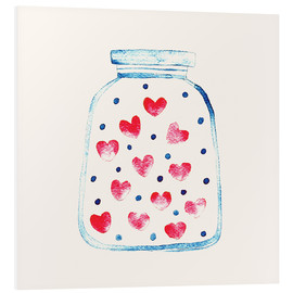 Tableau en PVC  Un pot d'amour - Kidz Collection
