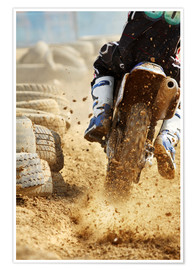 Poster  Motocross bike racing