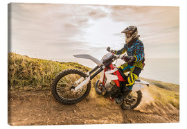 Toile  Enduro rider on the coast