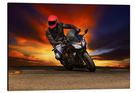 Motorcyclist in a curve