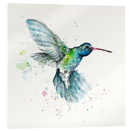 Verre acrylique  Colibri en vol - Sillier Than Sally