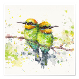 Poster  Family (Rainbow Bee Eaters) - Sillier Than Sally