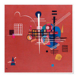 Poster  Rouge terne - Wassily Kandinsky