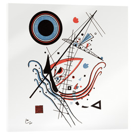 Verre acrylique  Lithograph blue - Wassily Kandinsky