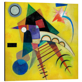 Tableau en aluminium  Point blanc - Wassily Kandinsky