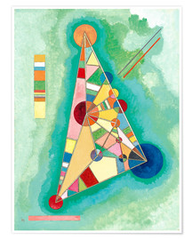 Poster  Stained in Triangle - Wassily Kandinsky