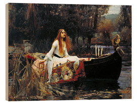 Tableau en bois  La Dame de Shalott - John William Waterhouse